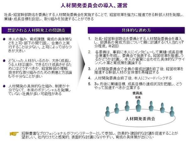 経営改革を進める第5の鍵: 幹部人材の把握と業績・成長目標の設定、成長への取り組み—人材開発委員会
