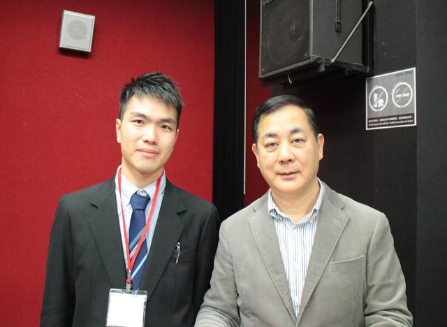 2016年3月の台湾ワークショップにて、黃冠融さんと